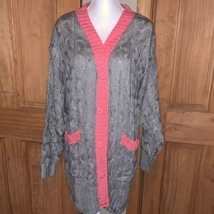 NWT M LLR Solid Gray & Pink Trim Lucille